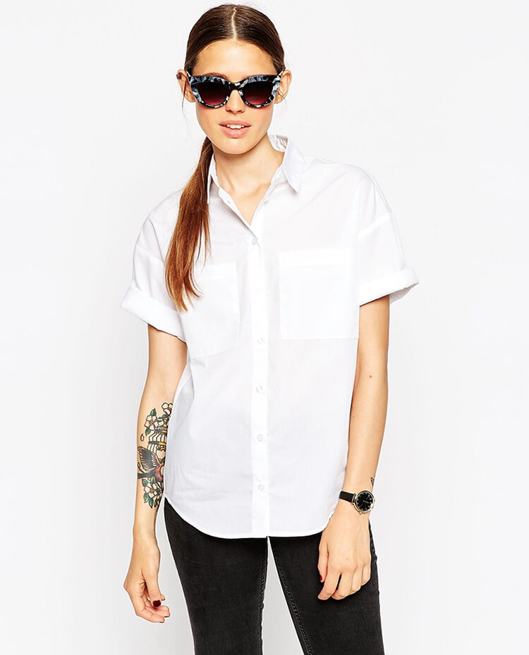 ASOS Short Sleeve Shirt with Pockets